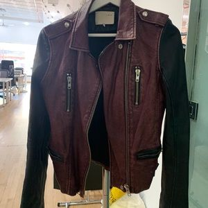 Iro two tone leather jacket